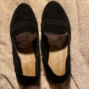 Lucky Brand soft suede loafers.